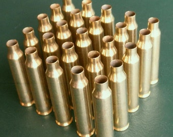 Lot of 34 Brass Shell Casings - Cleaned, Reamed, Firing Pin Removed - Ready for Your Favorite Craft Project