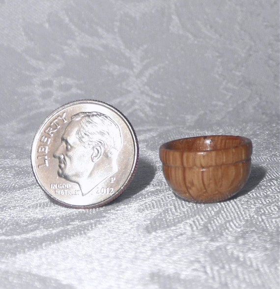 1/12 Scale Wood Bowl - Turned on the Lathe - Miniature Bowl