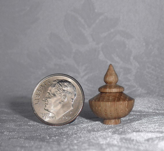 1/12 Scale Wood Box With Lid - Turned on the Lathe - Miniature Box/Bowl/Vase/Vessel