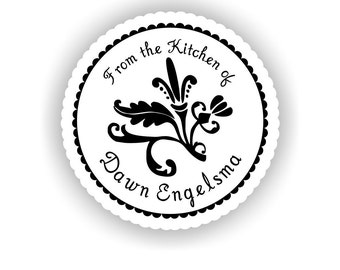 My Kitchen -- FANCY FLOURISH -- Vinyl Kitchen Container Labels -- 24 qty.