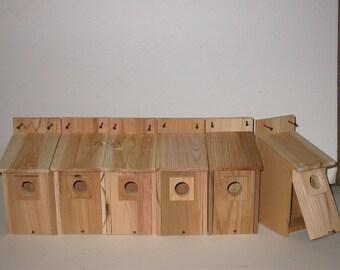 12 CEDAR  BLUEBIRD BIRDHOUSES .. free shipping...