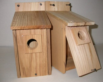 2 BLUEBIRD BIRDHOUSE NEST.western red cedar ...free shipping