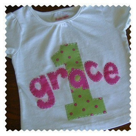 Girls Birthday Personalized Shirt Short or Long Sleeve 12m 18m 2t 3t 4t 5 6 7 8
