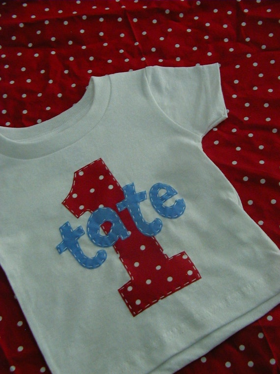 Personalized Birthday Boy or Girl Applique Shirt 12m 18m 24m 3t 4t 5 6 7 8