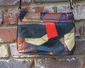 Vintage Multi Colored Purse with Strap