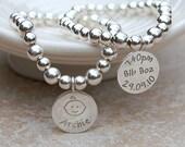 Personalized Silver New Mum Bracelet, Jewelry for New Mum, Mother's Day Baby Bracelet, New Baby Bracelet, New Mom, Birth Celebration, Silver