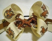 Brown Pony Hairbow Ponytail Holder