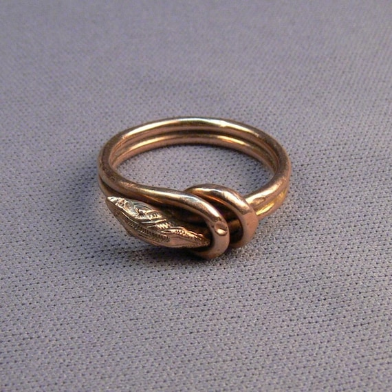 antique gold filled snake ring