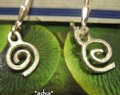 ADVA teeny hand forged sterling silver earrings