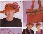 2003 Simplicity Red Hat, Purse Accessories Pattern, Patti Wagner Miller Designs, Conso, Hat, Bag, Hand Bag, Tote