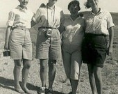 1950's Girl Friends July 23, 1955 Our First Day Texana Girls on Summer Vacation to Jackson Lake Wyoming B&W photos Texans in America 87c