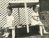 1940's Mary Jane & Billy, Sand Box, Summer Time, I'm not budging, Couple quarrel