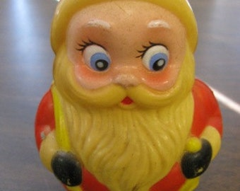 Vintage Kiddie Products Santa Plastic Toy, Musical Santa Claus, Rolly Pollie Santa Claus, Kris Kringle, Retro Rockin Santa