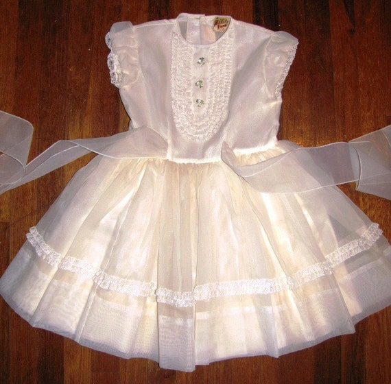 Vintage 1950 S 1960 S Childs Party Dress By Theidconnection