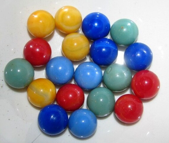 Glass Marbles Game : Vintage glass marbles retro game pieces marble course