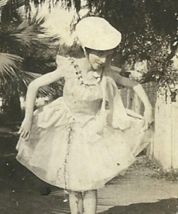 Lenora Dorian the Dancer, Ballerina,  Ballet, Vintage Black & White Photograph, Galveston Texas Socialite, Galveston Seawall Beach 27c