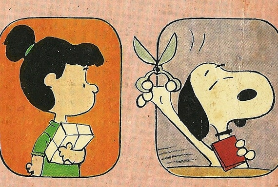 Vintage 1976 Be My Valentine Charlie Brown by Charles Schulz, Peanuts, Snoopy Woodstock, Lucy, Linus, Cartoon retro 1970's Comic Strip