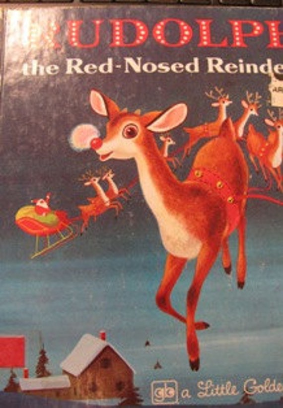 1974 Rudolph The Red Nosed Reindeer, Red Nose, Christmas Classic, Golden Book