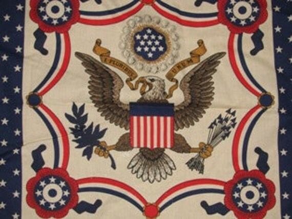 Patriotic American Eagle, Presidential Seal, USA, America Patriot Americana, Freedom Democracy sew Pillow Pattern sewing Fabric 57b