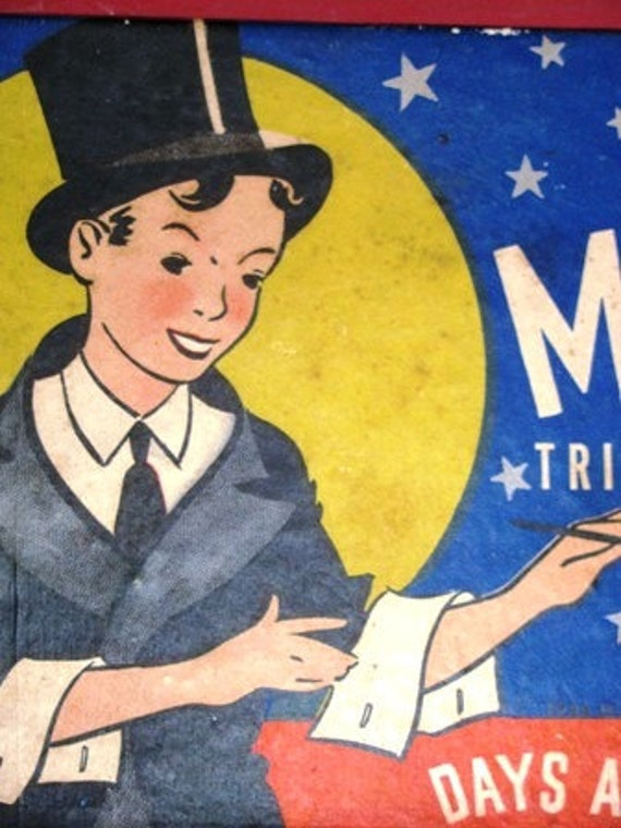 Party Magician 1940's vintage  Magic Games, 120 Magic Tricks, Puzzles, Days & Days of Fun, Tricks Magical Show secrets mystical illusion 66G