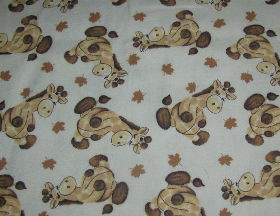Items Similar To Vintage Soft Fleece Baby Blanket Fabric