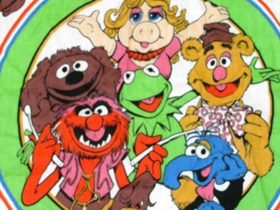 1988 Muppets Handkerchief, Hankie, Comics, Kermit, Ms. Piggy, The Gang, Jim Henson