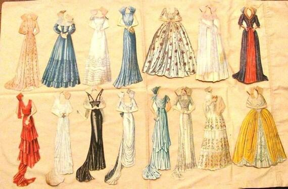 Vintage Dolls 1960 Paper Dolls 34 1937 Vintage