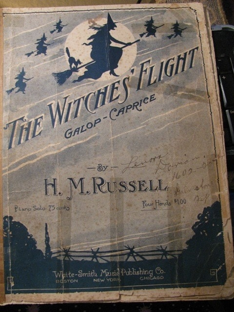 Vintage 1917 The Witches Flight Galop Caprice By H M Russell