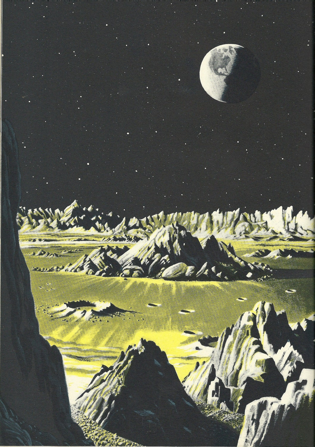 Space book vintage 1950 39 s exploring the moon by for Retro outer space