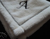 Reserved for Volaheart1 Initial A Security Blanket for Baby Girl or Boy