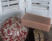 Homemade LARGE 6oz Bar of Natural Handmade Soap in Oatmeal Milk and Honey