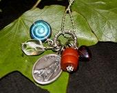 St Rock Saint Medal Charm Necklace