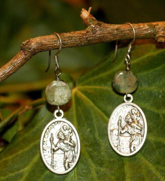 St Christopher Earrings