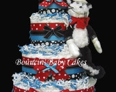 4 Tier Dr. Seuss - The Cat in a Hat Diaper Cake