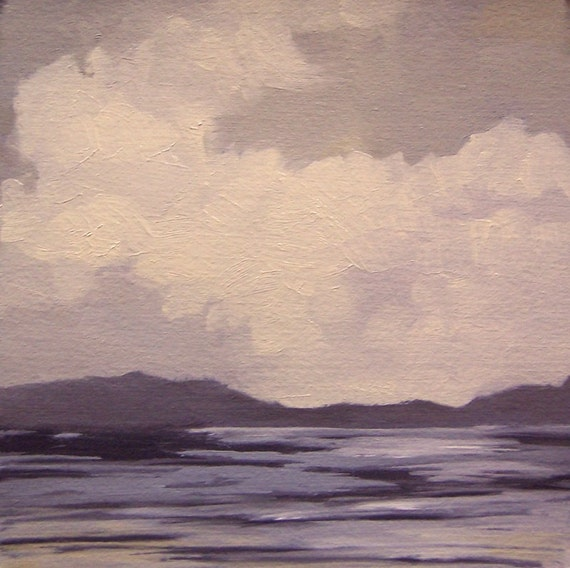 REMOTE, oil painting, 100% charity donation, original painting, landscape, 5x5, clouds, atmosphere, sky, horizon