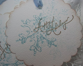 Handmade Gift Tags - Snowflakes