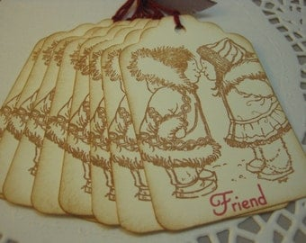 Handmade Gift Tags - Eskimo Kisses - Cute