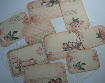 Vintage Inspired Gift Tags - Birds