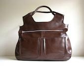 Leather  Handbag Travel Laptop Bag Satchel Messenger LAST ONE