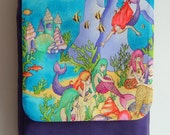 Mermaid messenger bag in a RARE fabric limited edition