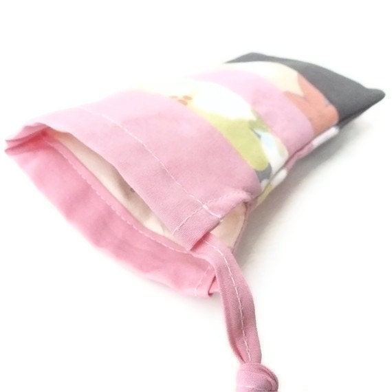 Pink Floral Grey Sunglasses Case - Gift for Her - Unique Glasses Case - Patchwork Recycled Sunglasses Sleeve