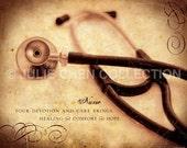 NURSE Keepsake - Nurse Gift - Nurse Art - Nurse Quote - Nurse Retirement Gift - Nurse Thank You Gift - Hospital Doctor Office Decor