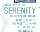 Serenity Prayer - Inspirational Wall Art - Spiritual Art - Christian Gift - Motivational Quote - AA Saying - Words to Live By - AA Prayer