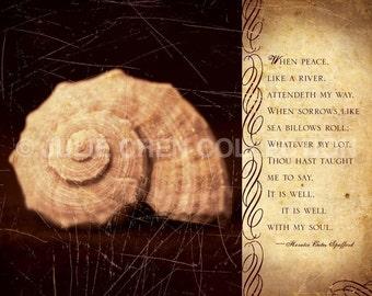 Inspirational Art - It is Well with my Soul - Hymn Art Lyrics