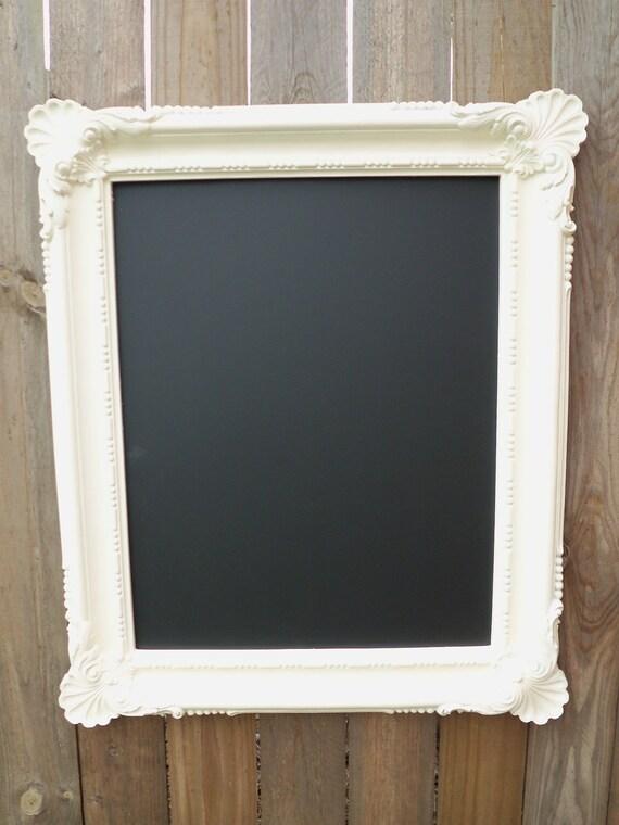 Antique Vintage Decorative Ornate Large White Wedding Reception Restaurant Chalkboard 30 X 36