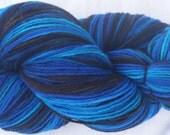 Beautiful Blue Ridge Hand painted Merino sock yarn