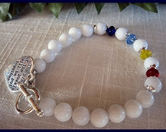 Autism Awareness Bracelet with Heart Charm