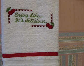 Embroidered Kitchen Towel,