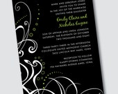 Wedding invitation Emily - Sample Available
