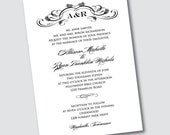 Wedding Invitation - Allison Monogram - Sample Available